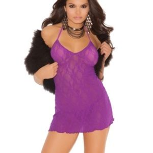 Other - Plus (Queen) size lingerie 👑 halter chemise